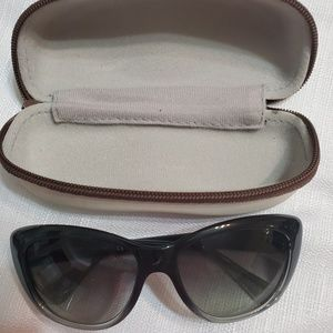 Vogue over sized sunglasses with case